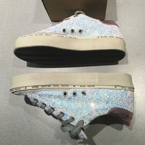 Golden Goose Shoes - Golden Goose Hi-Star Shoe Iridescent Glitter NIB